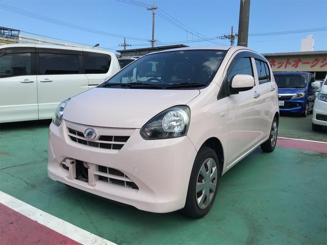 沖縄の中古車 ダイハツ ミライース 車両価格 44万円 リ済込 2012(平成24)年 7.8万km ピンク