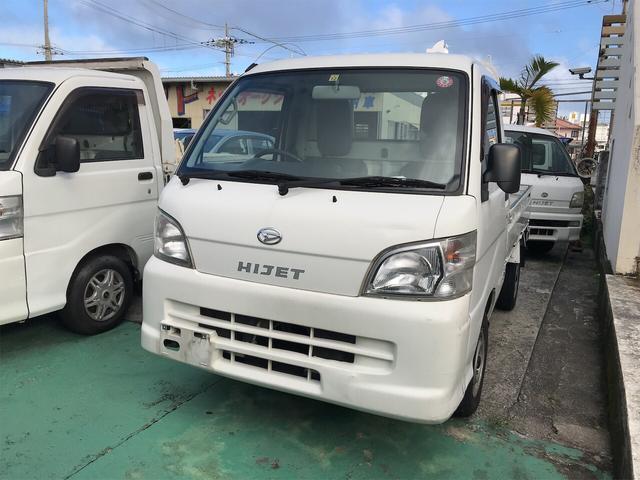 沖縄の中古車 ダイハツ ハイゼットトラック 車両価格 44万円 リ済込 2013(平成25)年 14.7万km ホワイト
