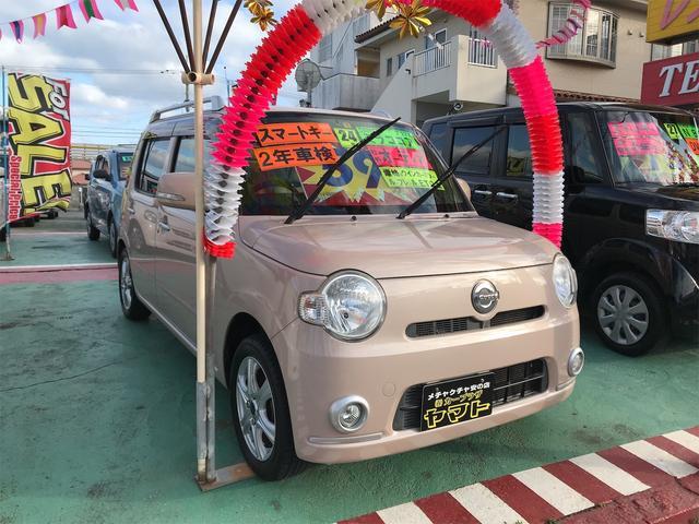 沖縄の中古車 ダイハツ ミラココア 車両価格 58万円 リ済込 2012(平成24)年 9.6万km ピンク