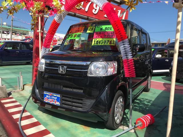 沖縄の中古車 ホンダ N-BOX 車両価格 88万円 リ済込 2016(平成28)年 7.3万km ブラック