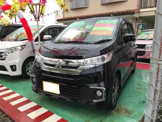 沖縄の中古車 三菱 eKカスタム 車両価格 68万円 リ済込 2016(平成28)年 8.9万km ブラック