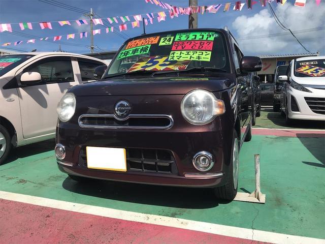 沖縄の中古車 ダイハツ ミラココア 車両価格 54万円 リ済込 2012(平成24)年 11.6万km ブラウン