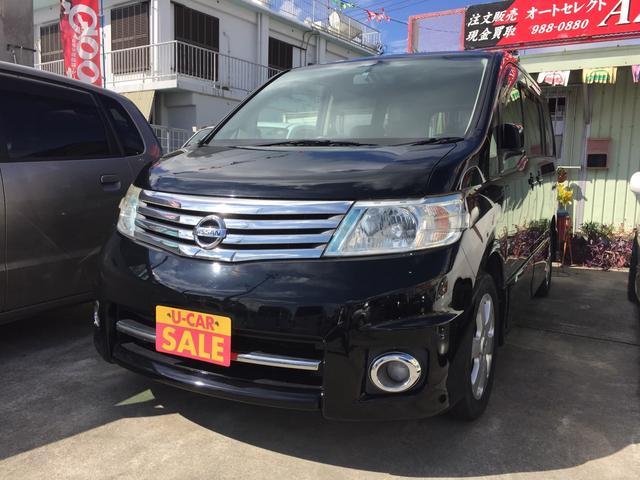 沖縄の中古車 日産 セレナ 車両価格 59万円 リ済込 平成19年 9.8万km ブラック