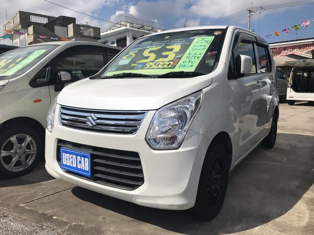 沖縄の中古車 スズキ ワゴンR 車両価格 53万円 リ済込 平成25年 9.5万km ホワイト
