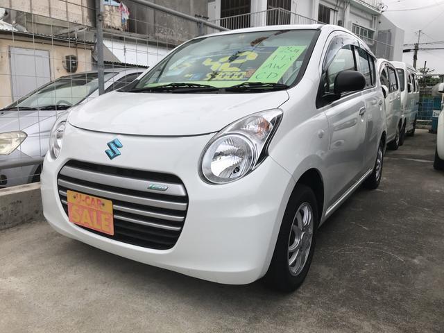 沖縄の中古車 スズキ アルトエコ 車両価格 42万円 リ済込 平成25年 5.3万km ホワイト