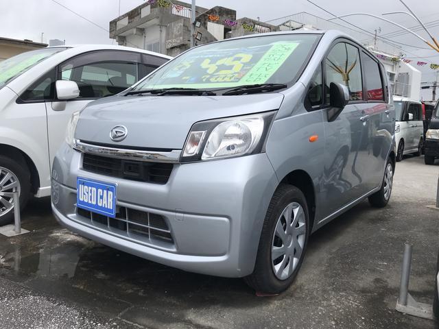 沖縄の中古車 ダイハツ ムーヴ 車両価格 49万円 リ済込 2013(平成25)年 7.1万km シルバー