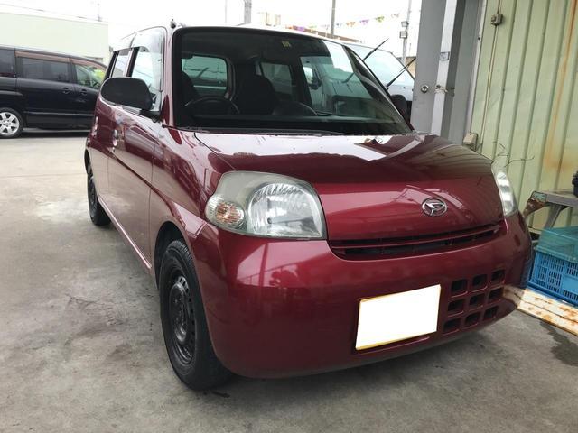 沖縄の中古車 ダイハツ エッセ 車両価格 18万円 リ済込 2010(平成22)年 10.8万km レッド