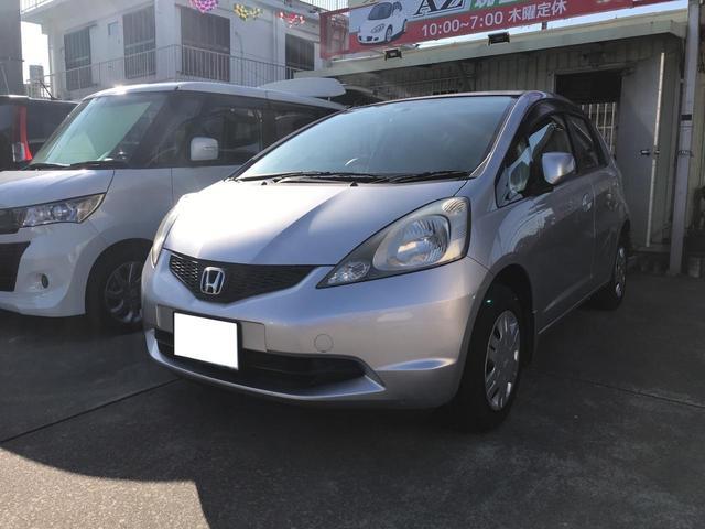 沖縄の中古車 ホンダ フィット 車両価格 18万円 リ済込 2009(平成21)年 13.8万km シルバー