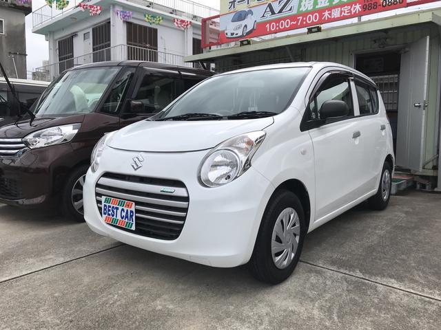 沖縄の中古車 スズキ アルトエコ 車両価格 33万円 リ済込 2015(平成27)年 2.2万km ホワイト