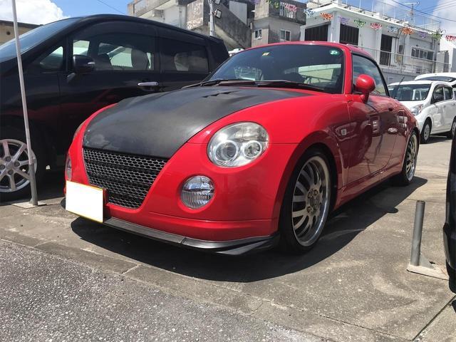 沖縄の中古車 ダイハツ コペン 車両価格 79万円 リ済込 2004(平成16)年 8.2万km レッド