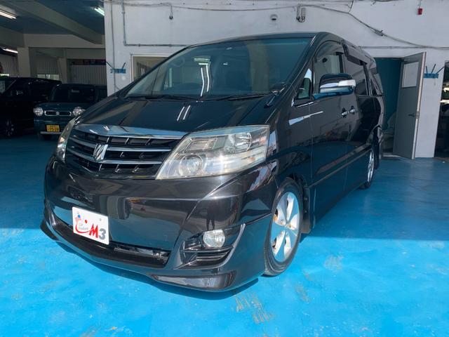 沖縄の中古車 トヨタ アルファードV 車両価格 47万円 リ済込 2008(平成20)年 13.5万km ブラックM