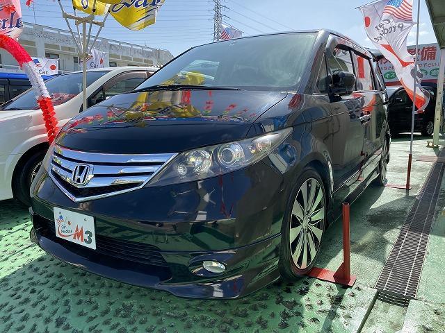 沖縄の中古車 ホンダ エリシオン 車両価格 55万円 リ済込 2010(平成22)年 9.3万km ブラックM