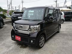 沖縄の中古車 ホンダ N BOXカスタム 車両価格 103万円 リ済込 平成26年 3.8万K プレミアムゴールドパープルパール
