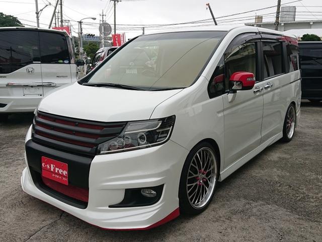 沖縄の中古車 ホンダ ステップワゴンスパーダ 車両価格 149万円 リ済込 2013(平成25)年 5.4万km ホワイトオーキッドパール