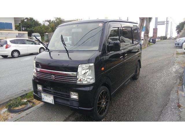 沖縄の中古車 スズキ エブリイワゴン 車両価格 59万円 リ済込 平成17年 7.2万km ブラックM