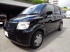 沖縄の中古車 三菱 eKワゴン 車両価格 12万円 リ済込 平成18年 15.2万K ブラック