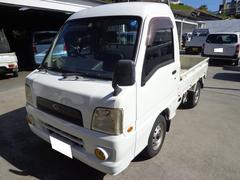 沖縄の中古車 スバル サンバートラック 車両価格 17万円 リ済込 平成18年 44.2万K ホワイト