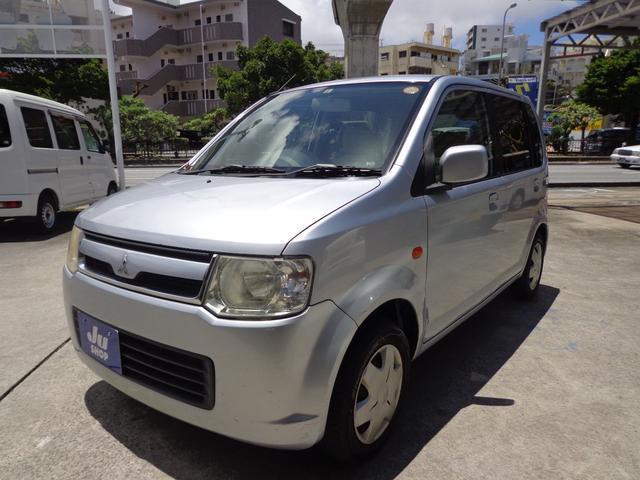 沖縄の中古車 三菱 eKワゴン 車両価格 17万円 リ済込 2008(平成20)年 15.3万km シルバー