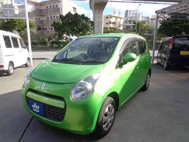 沖縄の中古車 スズキ アルト 車両価格 17万円 リ済込 2010(平成22)年 14.3万km グリーン