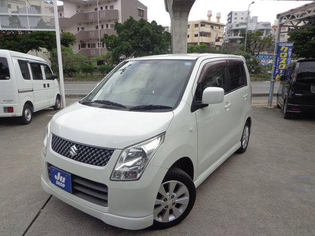 沖縄の中古車 スズキ ワゴンR 車両価格 37万円 リ済込 2009(平成21)年 8.9万km パールホワイト