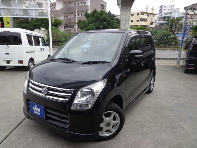 沖縄の中古車 スズキ ワゴンR 車両価格 37万円 リ済込 2010(平成22)年 10.7万km ブラック