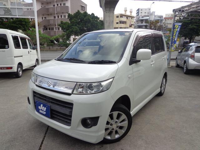 沖縄の中古車 スズキ ワゴンRスティングレー 車両価格 42万円 リ済込 2009(平成21)年 8.5万km パールホワイト