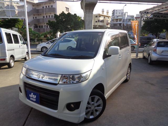 沖縄の中古車 スズキ ワゴンRスティングレー 車両価格 35万円 リ済込 2010(平成22)年 10.9万km パールホワイト