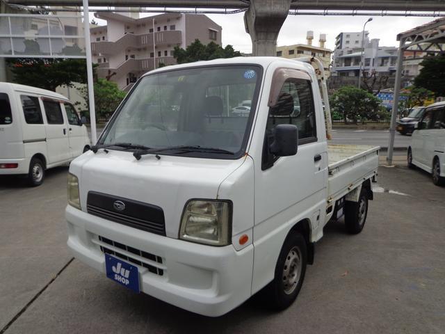 沖縄の中古車 スバル サンバートラック 車両価格 17万円 リ済込 2004(平成16)年 25.1万km ホワイト