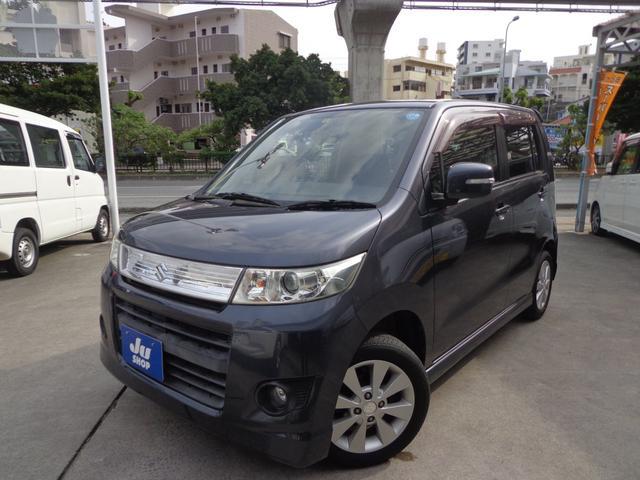 沖縄県の中古車ならワゴンRスティングレー Tターボ・プッシュスタート・純正アルミ付き
