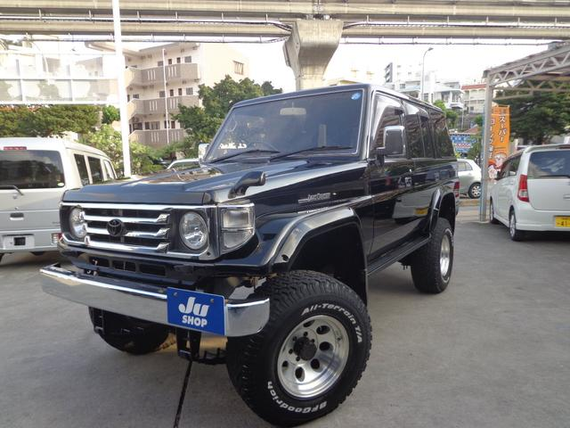 沖縄県の中古車ならランドクルーザー70 ZX リフトアップ・社外ナビ・TV・ETC・サンルーフ付き