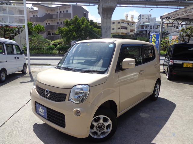 沖縄の中古車 日産 モコ 車両価格 37万円 リ済込 2011(平成23)年 10.8万km ベージュ