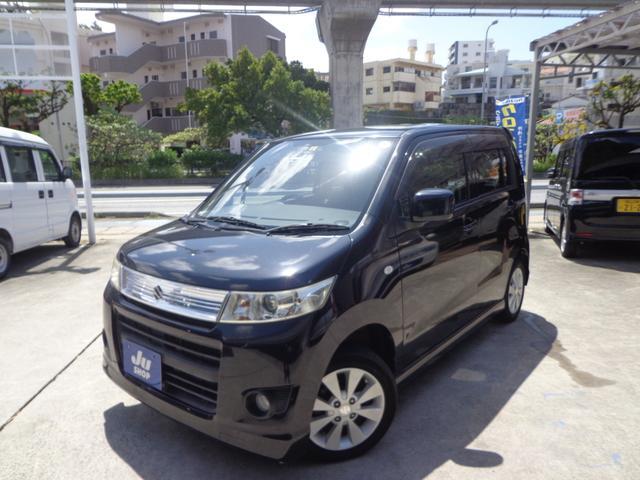 沖縄の中古車 スズキ ワゴンRスティングレー 車両価格 39万円 リ済込 2009(平成21)年 9.9万km ブラック