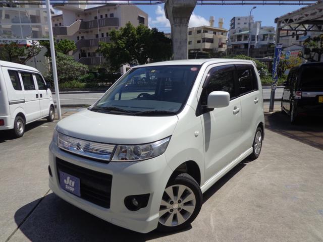 沖縄の中古車 スズキ ワゴンRスティングレー 車両価格 41万円 リ済込 2011(平成23)年 11.8万km パールホワイト