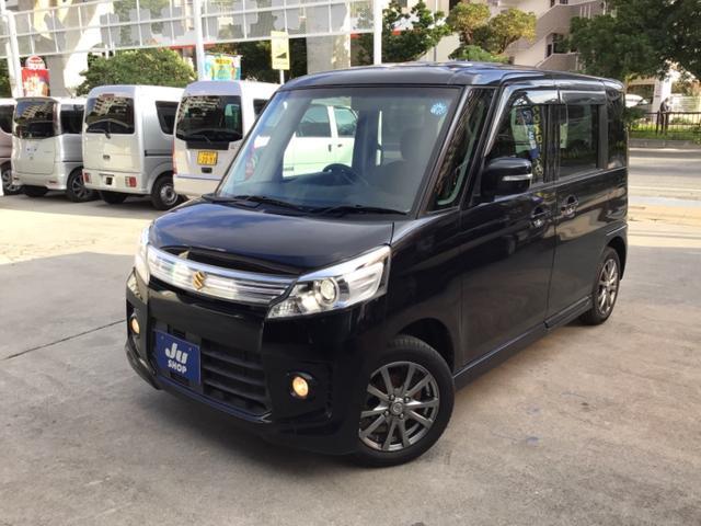 沖縄の中古車 スズキ スペーシアカスタム 車両価格 60万円 リ済込 2013(平成25)年 11.1万km ブラックM