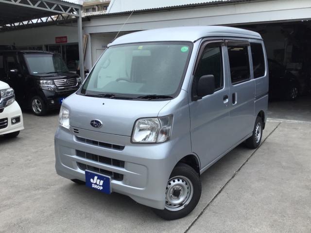 沖縄県の中古車ならサンバーバン トランスポーター キーレス・パワーウィンドウ・タイヤ4本新品交換込み