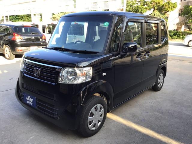 沖縄の中古車 ホンダ N-BOX 車両価格 63万円 リ済込 2012(平成24)年 8.1万km クリスタルブラックパール