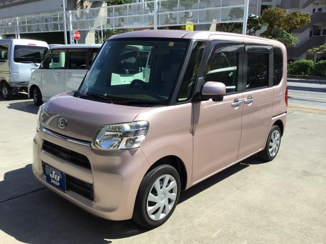 沖縄県の中古車ならタント X SDナビ・ワンセグTV・CD・DVD・Bluetooth・バックカメラ・アイドリングストップ・両側パワースライドドア・プッシュスタート・タイヤ4本交換