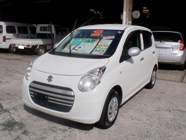 沖縄の中古車 スズキ アルトエコ 車両価格 39万円 リ済込 平成25年 9.2万km ホワイト