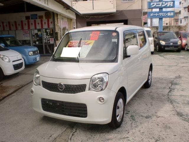 沖縄の中古車 日産 モコ 車両価格 39万円 リ済込 2013(平成25)年 12.8万km パールホワイト