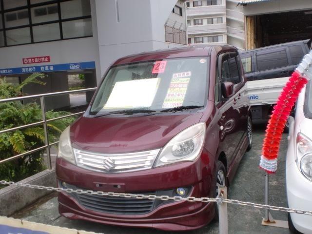 沖縄の中古車 スズキ ソリオ 車両価格 29万円 リ済込 平成23年 8.6万km ダークレッドM