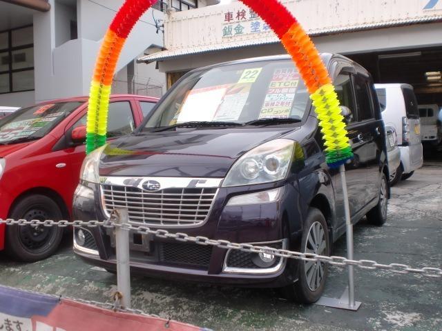 沖縄の中古車 スバル ステラ 車両価格 35万円 リ済込 平成22年 10.9万km ワインM