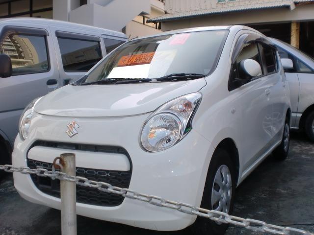 沖縄の中古車 スズキ アルト 車両価格 35万円 リ済込 平成25年 8.5万km ホワイト