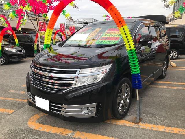 沖縄県の中古車ならエルグランド ライダー 白本革シート マニュアルシート