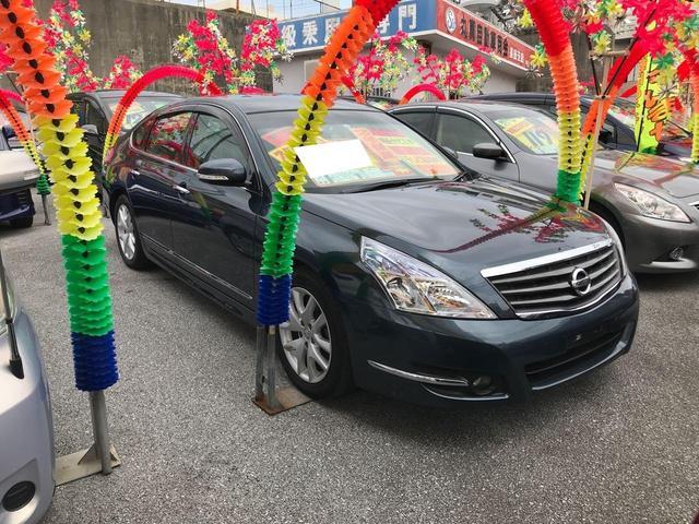 沖縄の中古車 日産 ティアナ 車両価格 74万円 リ済込 2013(平成25)年 8.5万km ダークブルー