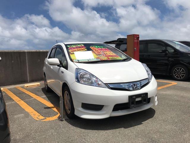 沖縄県の中古車ならフィットシャトルハイブリッド ハイブリッド-C 純正ナビ TV 電動格納ミラー キーレス