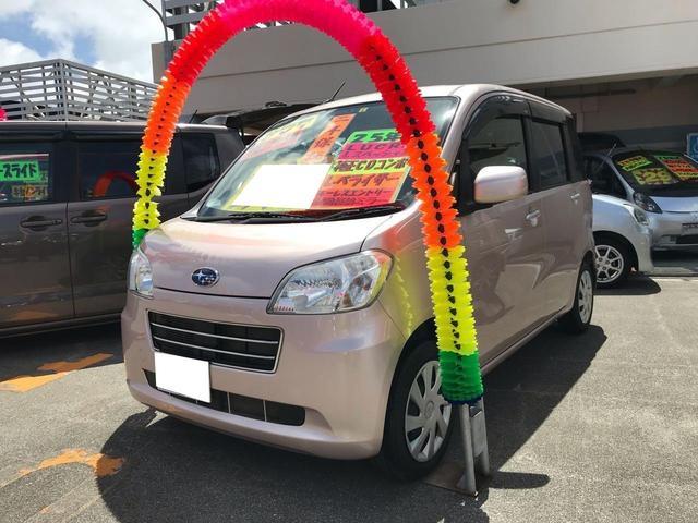 沖縄の中古車 スバル ルクラ 車両価格 57万円 リ済込 2013(平成25)年 9.1万km ピンク