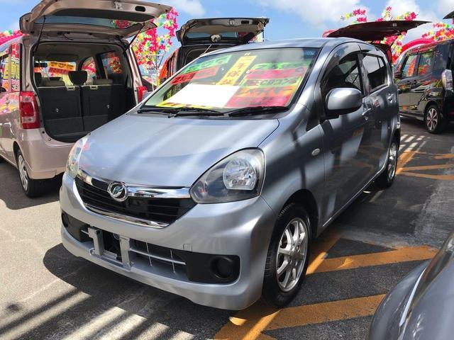 沖縄の中古車 ダイハツ ミライース 車両価格 53万円 リ済込 2014(平成26)年 6.8万km シルバー