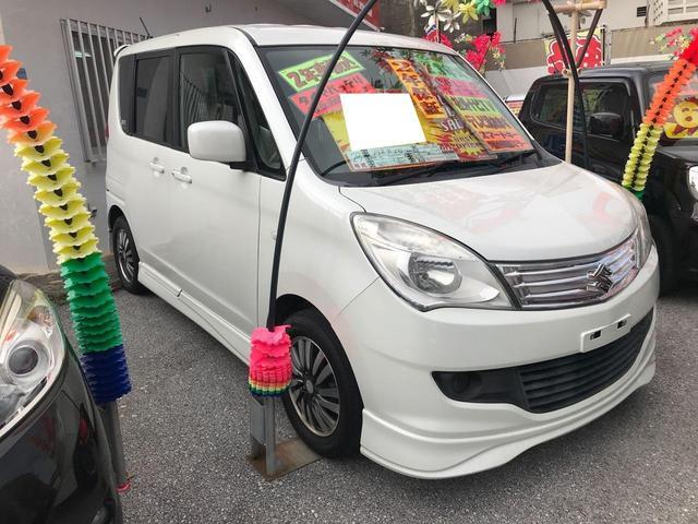 沖縄の中古車 スズキ ソリオ 車両価格 55万円 リ済込 2011(平成23)年 8.8万km パールホワイト