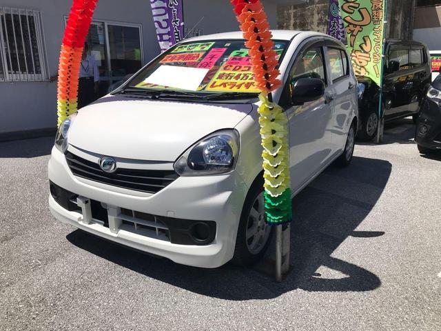 沖縄の中古車 ダイハツ ミライース 車両価格 43万円 リ済込 2014(平成26)年 4.3万km ホワイト