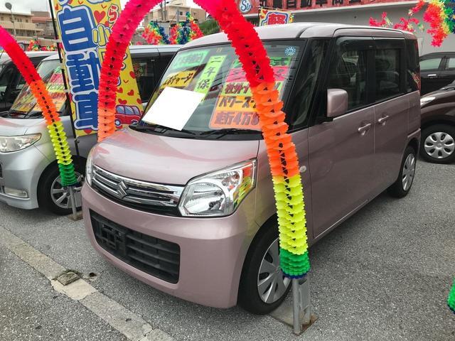 沖縄県宜野湾市の中古車ならスペーシア X ナビ TV 片側パワースライドドア ベンチシート
